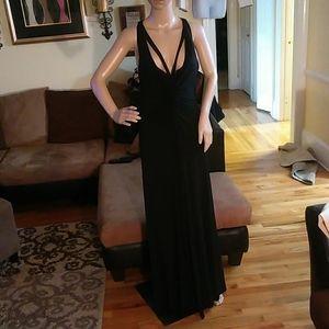 BCBGMaxazria ladies black formal.dress